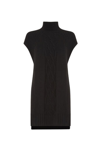 Oasis, Longline Knitted Tunic Black 0