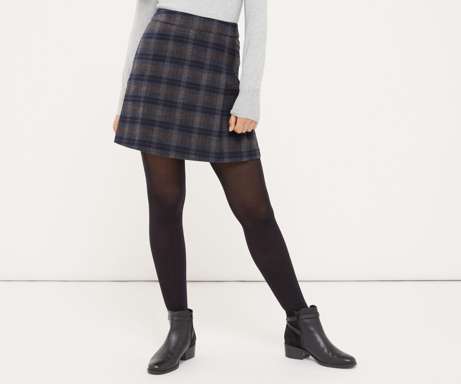 Oasis, BRUSHED CHECK POPPY KILT Multi 1