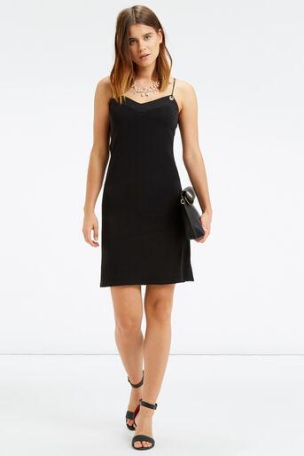 Oasis, EYELET CAMI DRESS Black 2