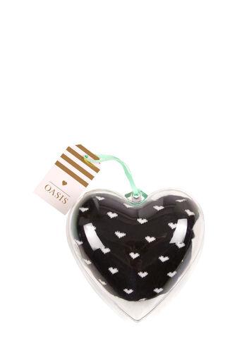 Oasis, HEART BAUBLE SOCK Black 0