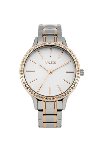 Oasis, Steel Bracelet Watch Rose Gold 0