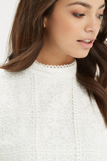 Oasis, Lace Pom Pom Top Off White 4