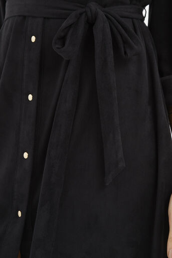 Oasis, Suedette Shirt Dress Black 4