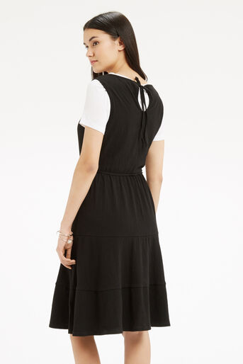 Oasis, Cheesecloth Tiered Dress Black 3