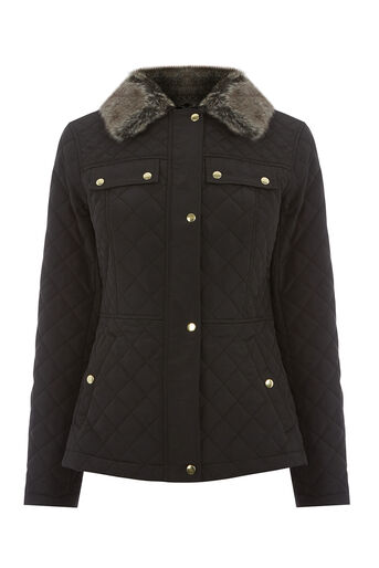 Oasis, QUILTED JACKET Black 0