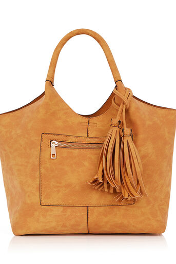 Oasis, HOLLY ZIP FRONT HOBO Camel 0
