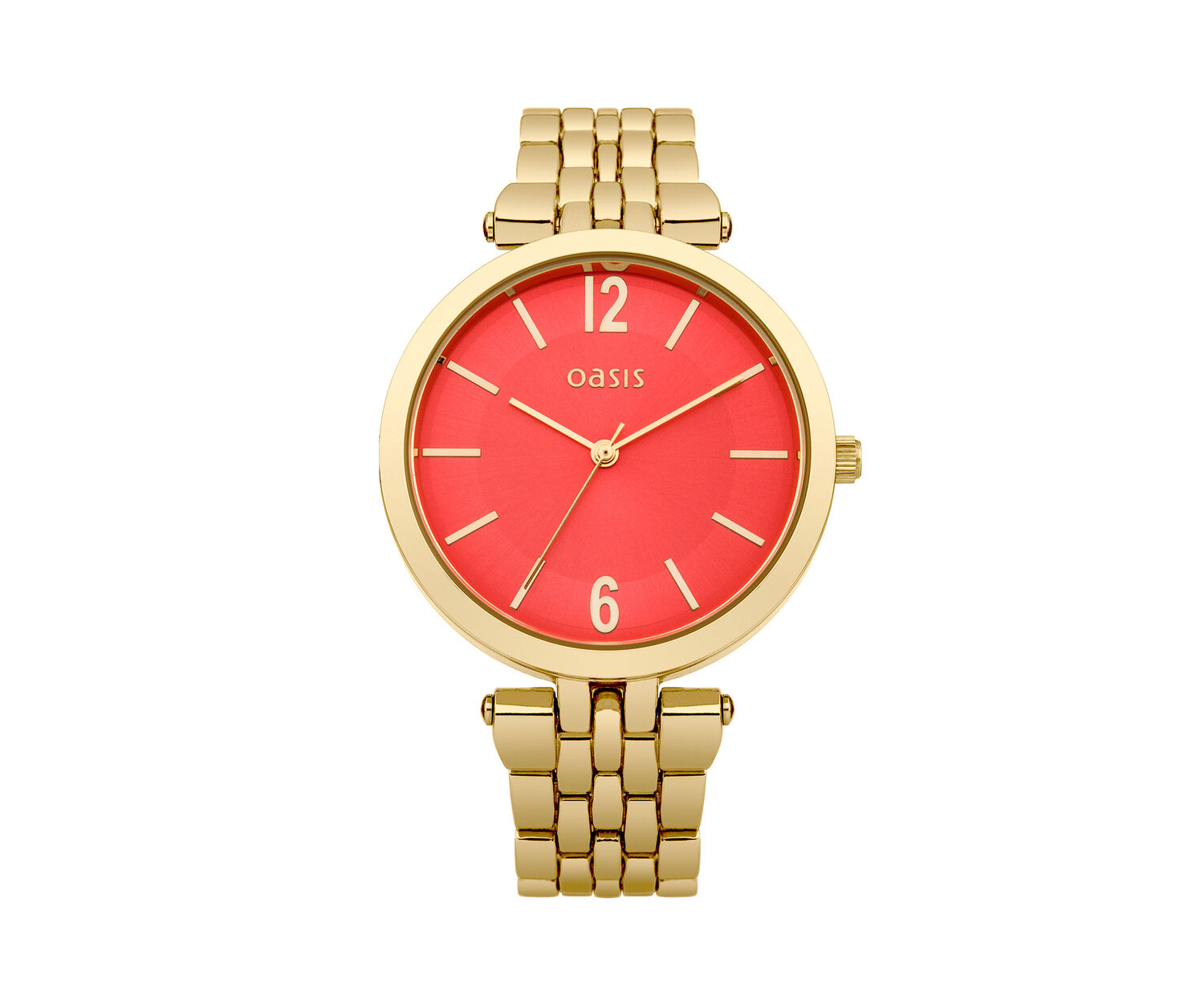 Oasis, Gold Orange Dial Watch Bright Gold 0