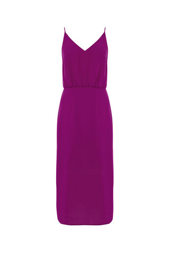 Oasis, PLAIN MIDI DRESS Mid Purple 0