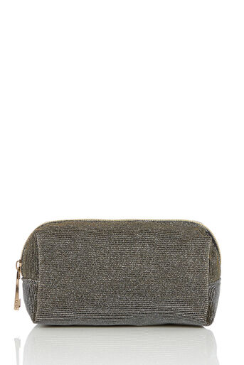 Oasis, GLITTER COSMETIC CASE Gold 0