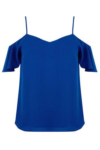Oasis, Cold Shoulder Cami Rich Blue 0