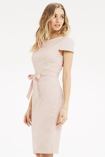 Oasis, Bonnie Workwear Dress Mid Neutral 1