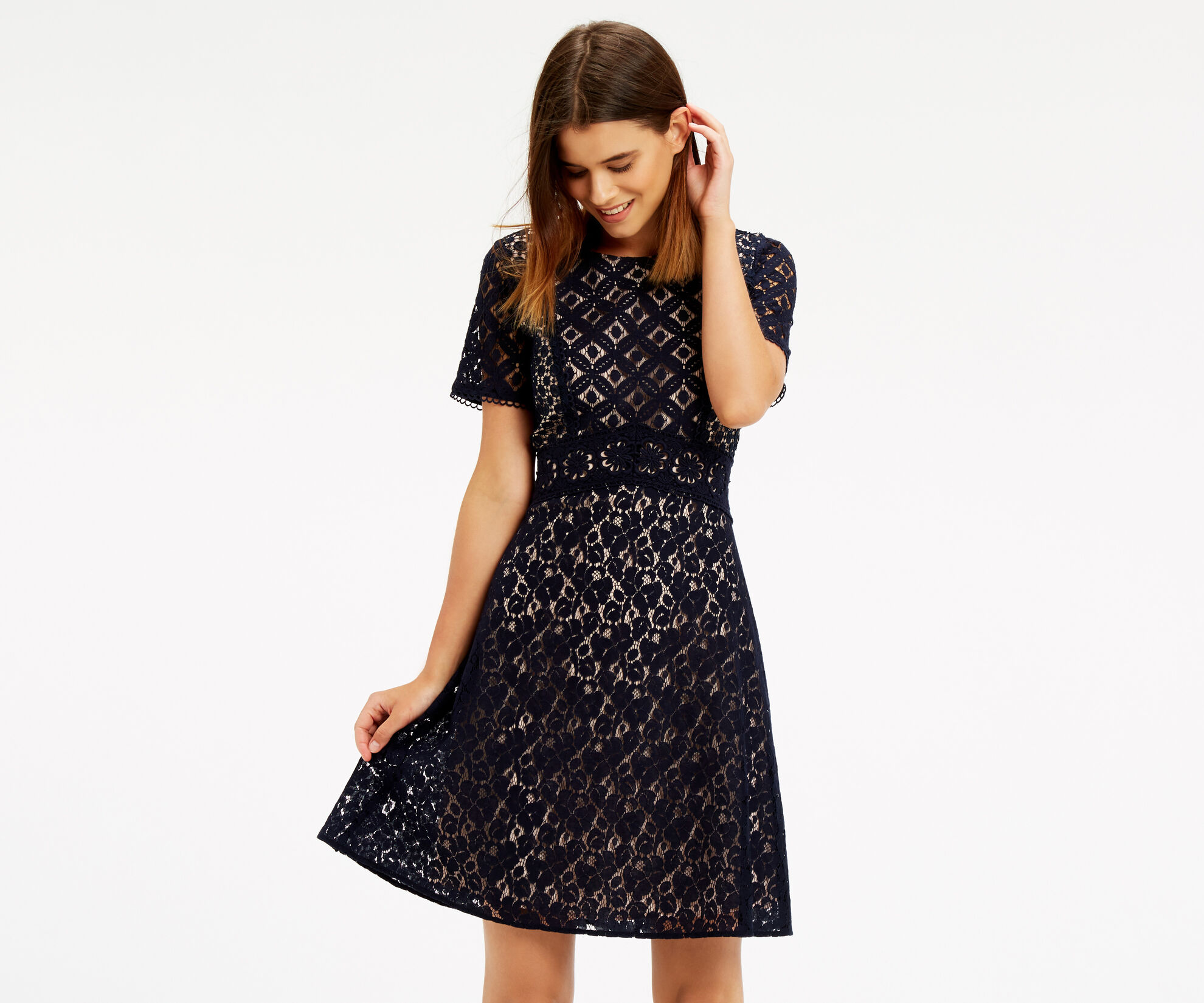 Oasis, Patched Lace Skater Navy 1