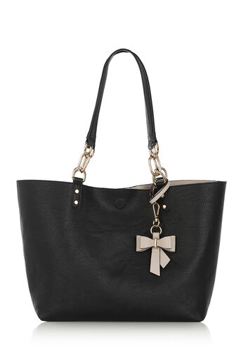 Oasis, REVERSIBLE BOW SHOPPER Black 0