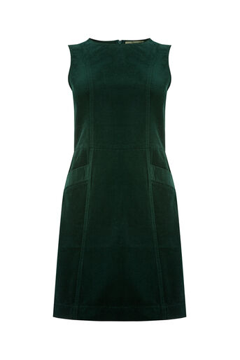 Oasis, CUT ABOUT CORD DRESS Teal Green 0