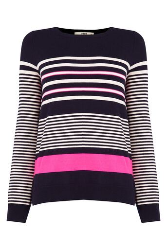 Oasis, Verigated Stripe Jumper Multi 0
