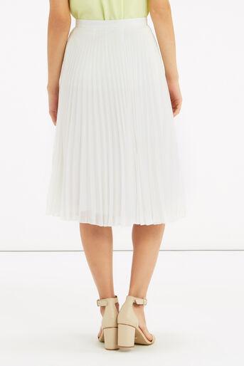 Oasis, Pleated Midi Skirt Off White 3