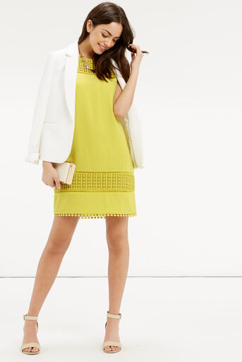 Oasis, Lace Detail Dress Bright Yellow 2