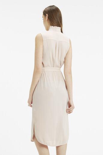 Oasis, Emerald Frill Shirt Dress Light Neutral 3