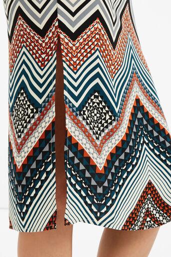 Oasis, Chevron Stripe Midi Dress Multi 4