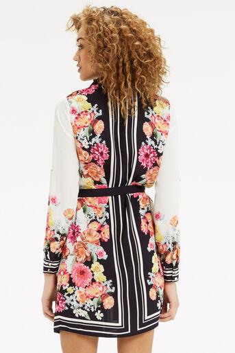 Oasis, Film Floral Shirt Dress Multi 3