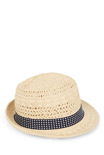 Oasis, SPOT TRIM TRILBY HAT Mid Neutral 0
