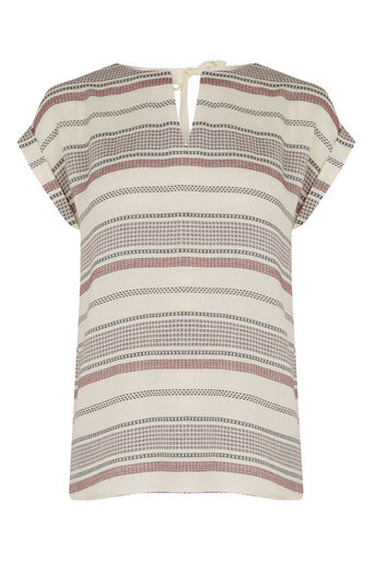 Oasis, CASUAL STRIPE TEE Multi Natural 0