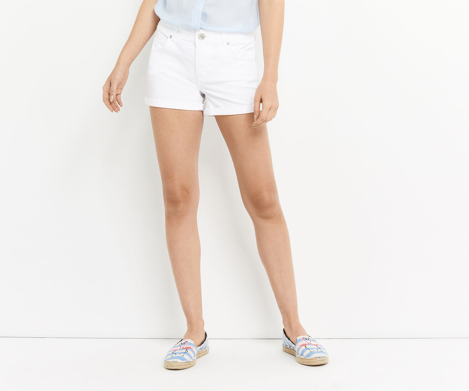 Oasis, WHITE MILLIE DENIM SHORT White 1