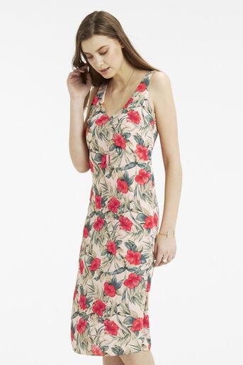 Oasis, Tropical Midi Dress Multi Natural 1