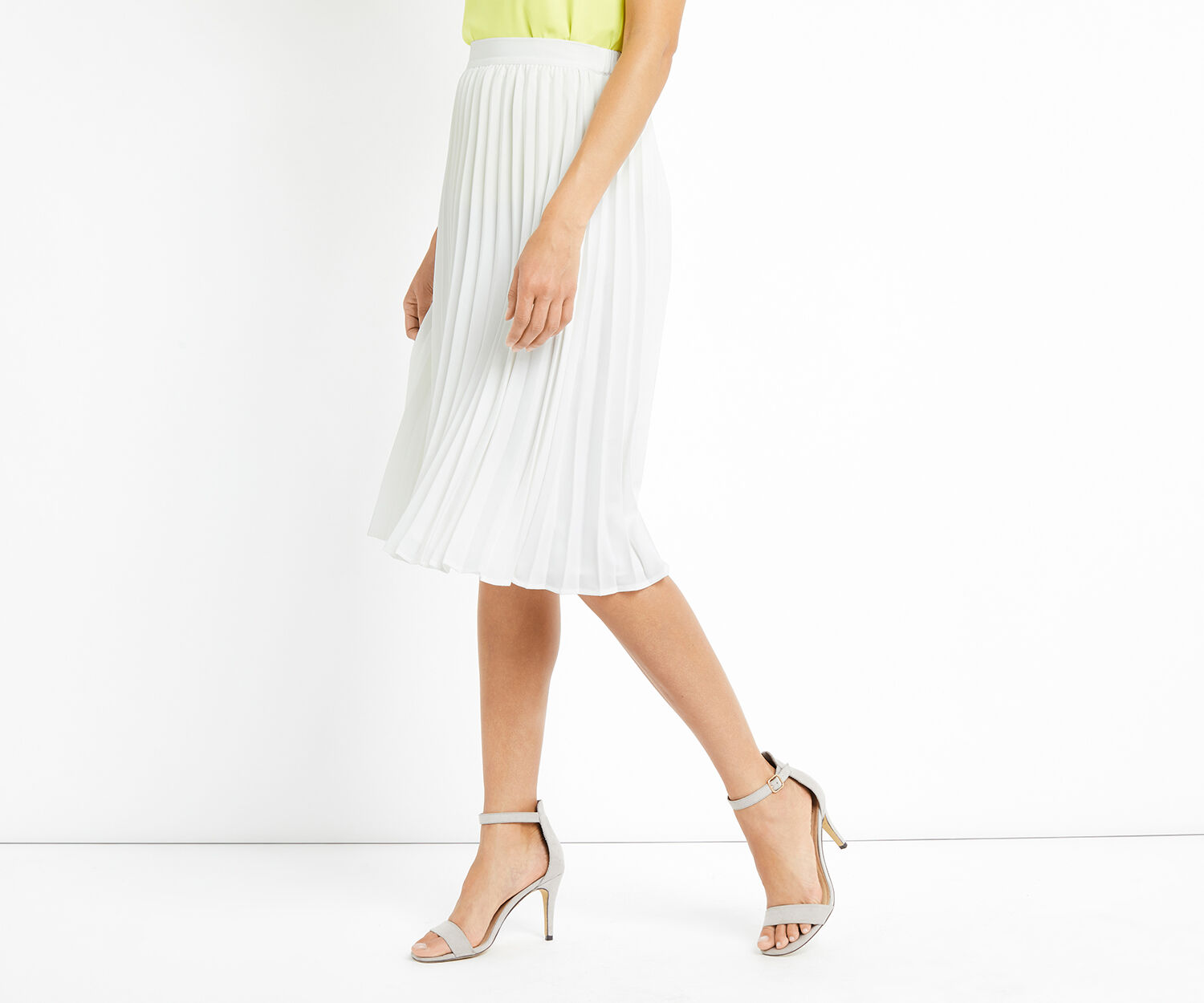 Oasis, LUCIA PLEATED SKIRT Off White 1
