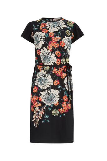 Oasis, FAR EASTERN VINE DRESS Multi Black 0