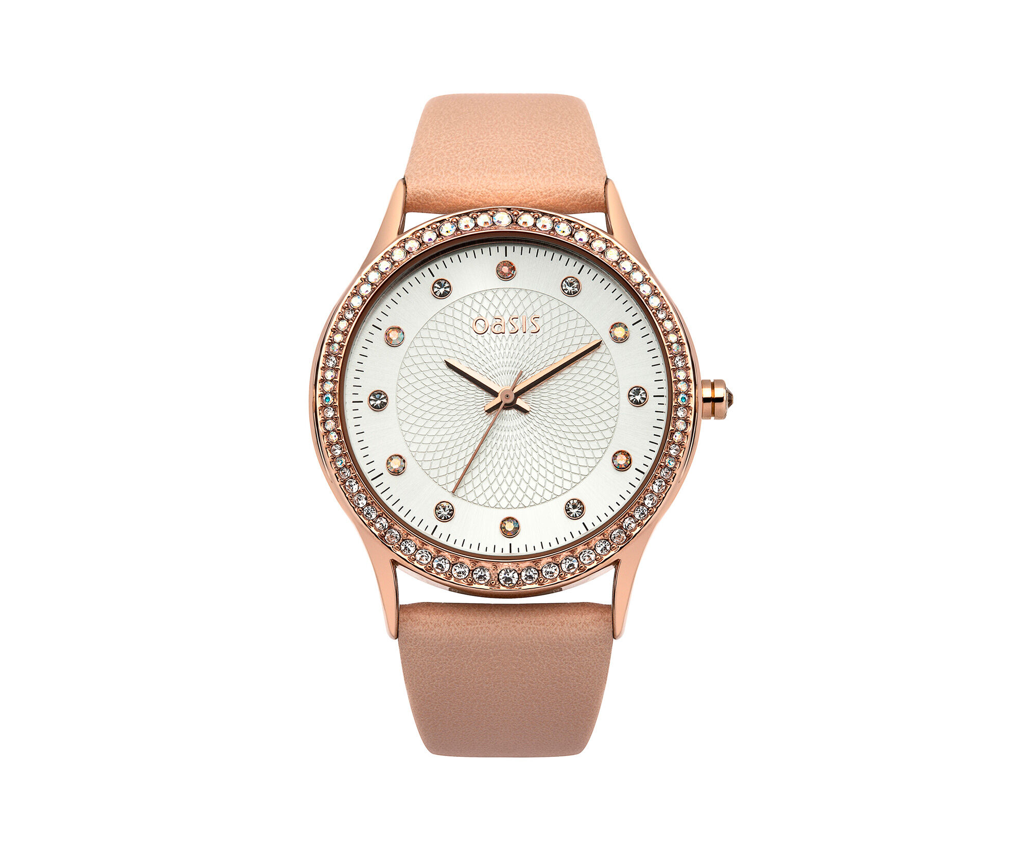 Oasis, Nude PU Strap Watch Off White 0