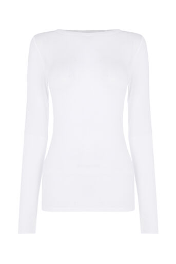 Oasis, BOAT NECK TOP White 0
