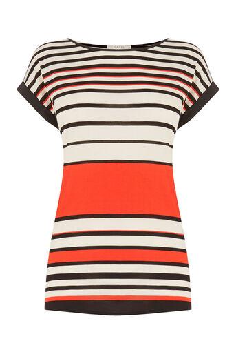 Oasis, Stripe Bretton T-Shirt Mid Orange 0