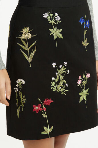 Oasis, Embroidered A-Line Skirt Multi 4