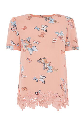 Oasis, BUTTERFLY PRINT T-SHIRT Multi 0