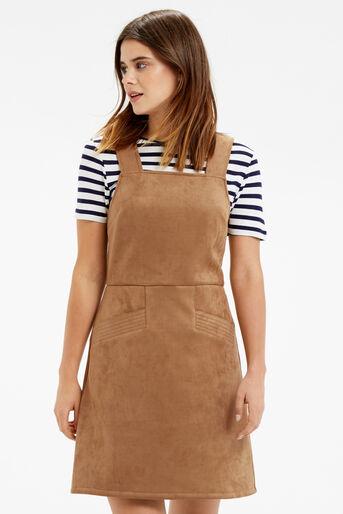 Oasis, SUEDETTE DRESS Tan 1