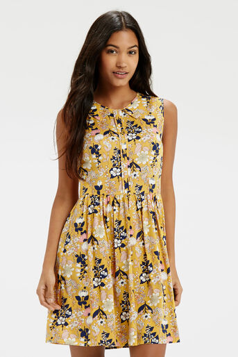 Oasis, Edie Floral Skater Multi Yellow 1