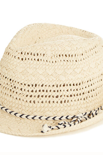 Oasis, Rope Trilby Hat Mid Neutral 2