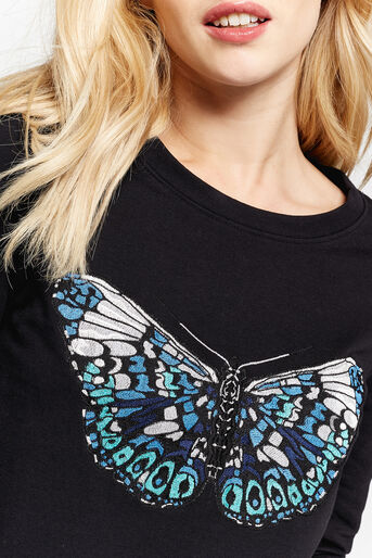 Oasis, EMBROIDERED BUTTERFLY SWEAT Black 4