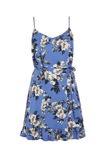 Oasis, Botanical orchid dress Rich Blue 0