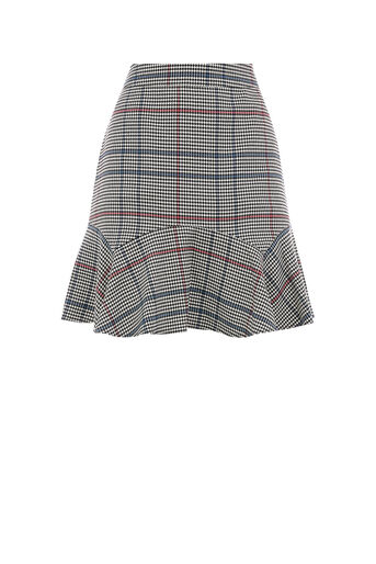 Oasis, FLIPPY MONO CHECK SKIRT Multi 0