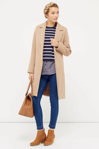 Oasis, stripe shirt tails top Multi Blue 2