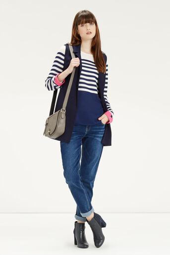 Oasis, Stripe Colour Block Top Multi 2