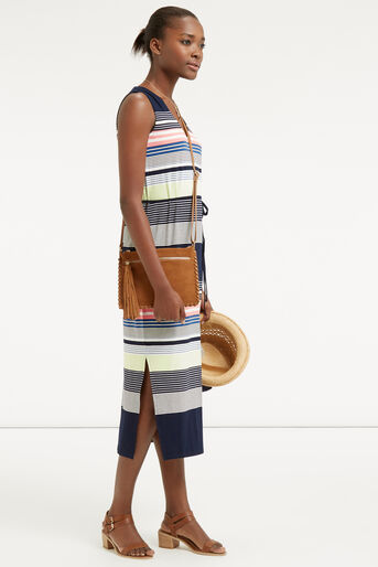 Oasis, Stripe Midi Dress Multi 2