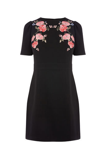 Oasis, ROSE EMBROIDERED DRESS Multi 0