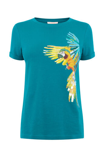 Oasis, TROPICAL PARROT T-SHIRT Mid Green 0