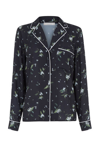 Oasis, V&A PYJAMA JACKET Multi Black 0