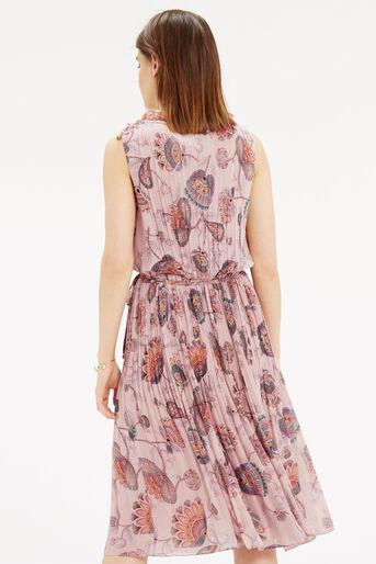 Oasis, Goddess Tie Neck Dress Multi Natural 3