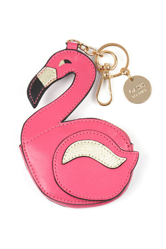 Oasis, LEATHER FLAMINGO COIN PURSE Multi Black 0