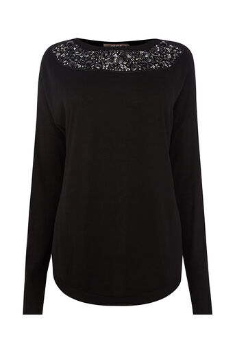 Oasis, Encrusted jewel top Black 0